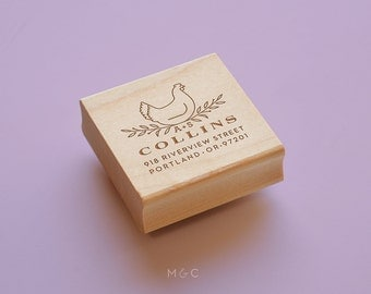 Hen Crest - Return Address Stamp