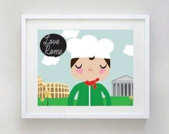"SALE: I Love Rome Nursery Art Print - Digital Download - 8x10"""