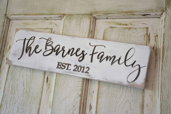 Family Established Sign, Gallery Wall Decor, Personalized Home Decor, Est Date, Wedding Gift, Bridal Shower Gift, 5th anniversary
