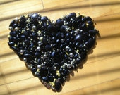 Destach Black Yellow Gold Acrylic Glass Mixed Beads for Jelwery Making