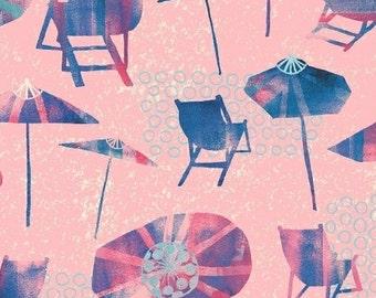 Beach Chairs (Pink) - Sunnyside - Sara Franklin - Windham Fabrics - 1 Yard