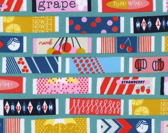 Fruit Gum (Blue) - Fruit Dots - Melody Miller - Cotton + Steel - 1 Yard