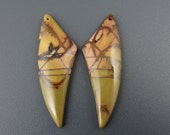 Beautiful Picasso jasper small  Earrings pair, cherry creek jasper, Natural cabochon, Free drilling  S6576