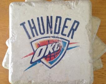 Oklahoma City Thunder Coasters Set of 4