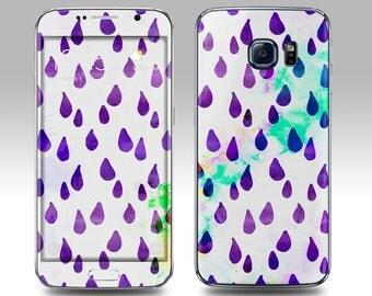 PURPLE RAIN Galaxy Decal Galaxy Skin Galaxy Cover Galaxy S6 Skin, Galaxy S6 Edge Decal Galaxy Note Skin Galaxy Note Decal Cover
