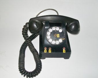 Vintage 1940's Rotary Desk Phone Western Electric Company Art Deco