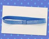 Elastic Belt - Shimmering Blue Ballet Belt - Ballet Elastic Waistband - Hip Alignment Belt - Ballet Belt - Stretchy Belt - Ballet Gift