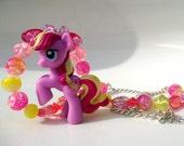 Sprinklestripe v2- Pink & Yellow My Little Pony Blind Bag Necklace