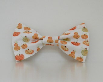 Pumpkins Watercolor Dog Bow Tie Wedding Accessories Halloween Thanksgiving Made to Order