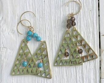 Gold Island Earrings