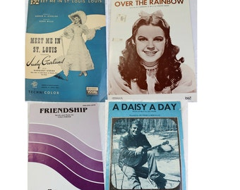 Antique Piano Sheet Music-  Friendship,  1930's