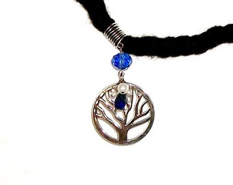 Dreadlock Jewelry - Silver-Plated Oversized Tree of Life Loc Jewel