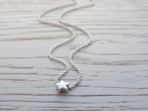 Tiny Silver Star Necklace - Sterling Silver
