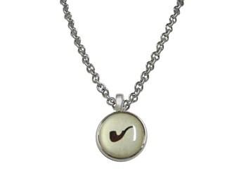 Brown Smoking Pipe Design Necklace
