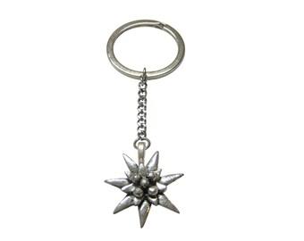 Edelweiss Flower Pendant Keychain
