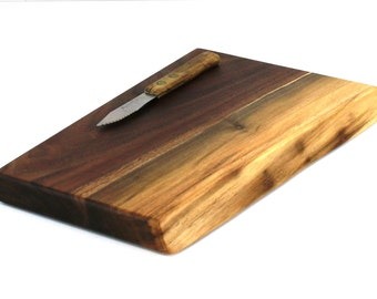 "Wine and Cheese Board - Walnut - Ready to Ship - 11"" x 7"" x 1"""
