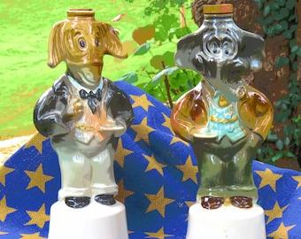 Donkey and Elephant Vintage Jim Beam Decanters