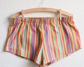 Colourful Striped Pyjama Shorts