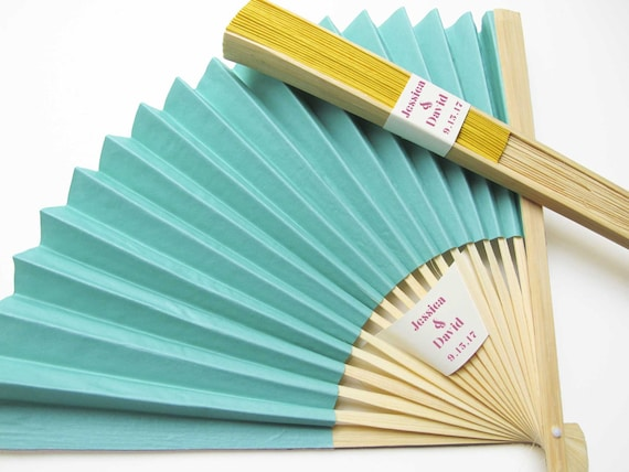 Personalized Fans 100 Set Paper Fan Wedding Favors Party