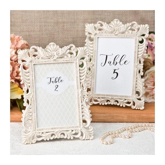 Ivory Table Number Frames Set Of 3 Size 4 X 6 Gold Leaf