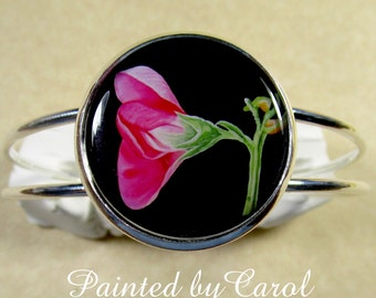 Sweet Pea Bracelet, Sweet Pea Jewelry, Sweet Pea Gifts, April Birthday Gifts, Sweet Pea Wedding, Sweet Pea Bridal, Mothers Day Gifts