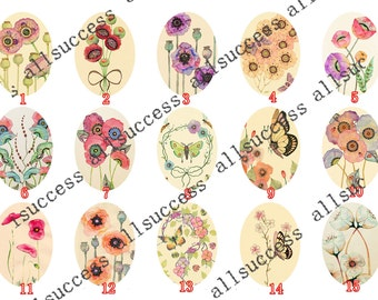 10x14mm,13x18mm,18x25mm,20x30mm,30x40mm Flower Oval photo Glass Cabochons,jewelry Cabochons finding beads,Photo Glass Cabochons