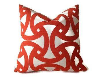 Trina Turk Santorini Pillows, Orange Pillows, Decorative Throw Pillow covers, Indoor Outdoor, Pillows, Home Decor Pillow, Orange