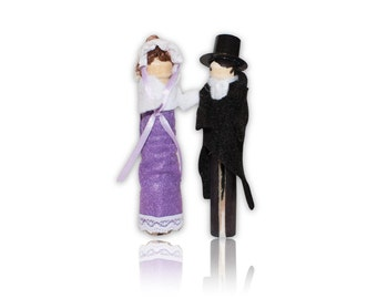 Little Women Clothespin Doll Ornament Kit Meg Jo Beth And