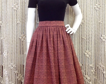 1950s Red Speckled Full Skirt