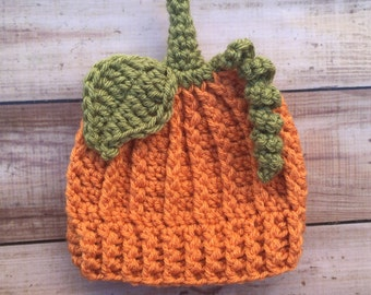 Baby Boy Pumpkin Hat, Crochet Pumpkin Hat, Baby pumpkin Hat, Halloween Costume, newborn photo prop