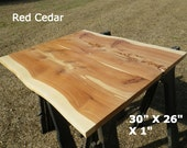 Live Edge Pub Table Top, Finished Red Cedar Wood Slab, Natural Edge Breakfast Table, Work Station Desk Top, Kitchen Table, Coffee Table 2076