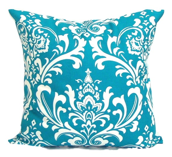 Turquoise Pillows.ALL SIZES.Decorative Pillow Cover.Home