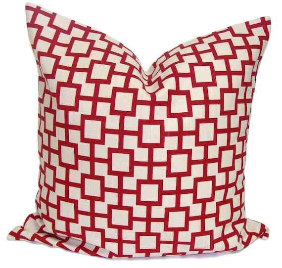 21 Inch Throw Pillow Covers : RED PILLOW SALE.16x16 inch.Pillow Cover Decorative Pillow