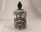 Black and White Handmade Ceramic Canister