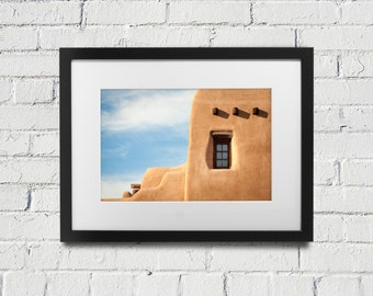 Print or Canvas Photograph of Adobe in Santa Fe, New Mexico,  southwest United States, Fine art photography