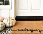 SCROLL NAME Doormat ... Hand Painted in CURSIVE on a Coir Mat