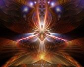 AURORA, Portal Series - Tapestry, Wall Hanging - Original Pumayana Visionary Healing, Spiritual, Psychedelic, Shamanic, Sacred Geometry Art
