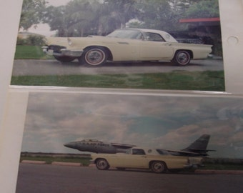 12 Vintage Car Color Photos 1957 Ford Thunder and 1957 Cherolet and More