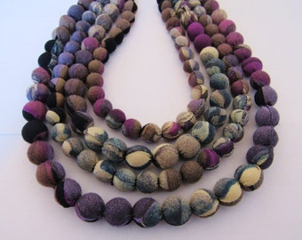 white and violet necklace