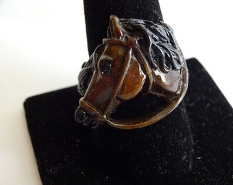 Bronze HORSE RING Sizes 9.5. 10.0