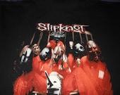 xl Slipknot t shirt - original vintage concert - og 90s band metal hardcore