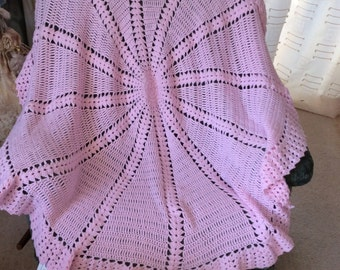Hand crocheted baby shawl