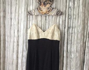 ON SALE 90's Jessica Mcclintock Gunne Sax Slip Dress