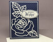 Rose Greeting Card-wedding, thank you, sympathy, beautiful blessing, birthday