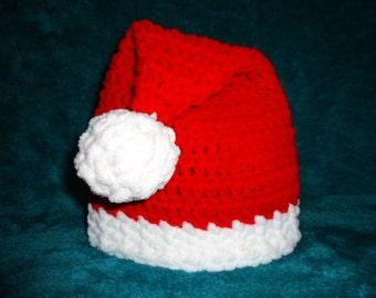 Santa Hat for Baby Handmade Crochet Christmas Assorted Sizes Photo Prop