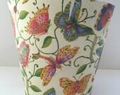 BUTTERFLIES CLAY POT / Butterflies Gift Pot / Flower Clay Pot / Decor Idea / Decoupage Butterflies Ceramic / Home Decor Vase