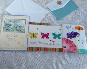 Greeting Cards and Envelopes / Vintage Get Well Cards / Thinking of You Card
