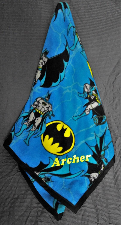 Batman Large Personalized Throw Blanket Fleece