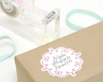 Ornate Gift Wrap Stickers