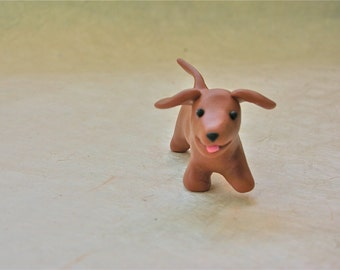 Dachshund/ Sausage Dog Running - fimo polymer clay cake topper decoration totem
